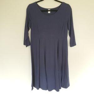 Old Navy Maternity navy blue jersey midi dress S